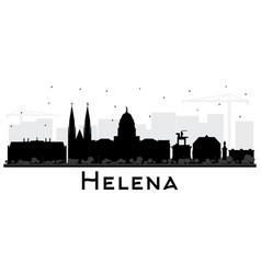 helena montana city skyline silhouette with black vector image