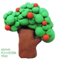Icon of plasticine tree vector