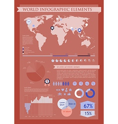 Information graphics red vector