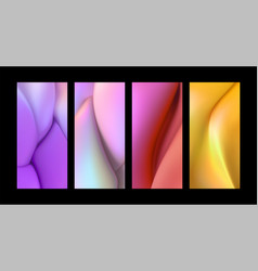 liquid gradient shapes background set vector image