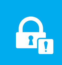 lock icon with exclamation mark vector image