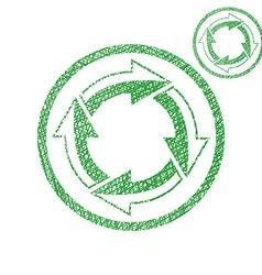 Loop arrows conceptual symbol simple single color vector