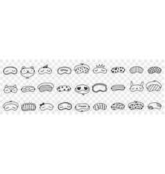 masks for sleeping doodle set vector image
