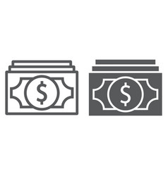money line and glyph icon finance and banking vector image