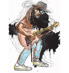 Musician - Guitar Player vector image