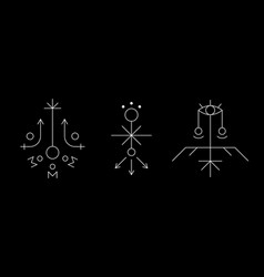 Mysterious geometry symbol set ancient secret vector