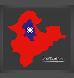 new taipei city taiwan map with taiwanese vector image