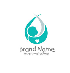 newborn baby logo concept vector image
