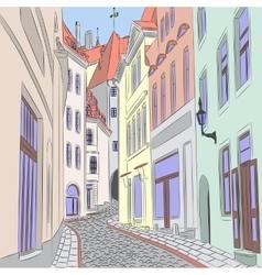 Old street in Tallinn vector image