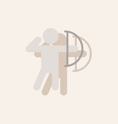 olympic games archery player athlete icon in vector image