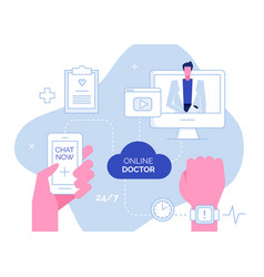 Online doctor composition vector