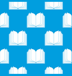 open book seamless background icon vector image