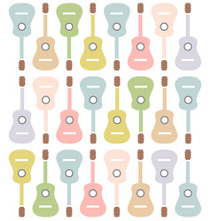 pastel colored guitars vector image