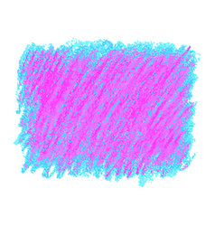 Pink and blue crayon scribble texture stain vector