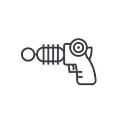 plasma gun line icon sign on vector image