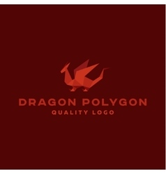 Polygon dragon origami logo professional vector