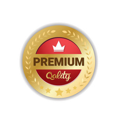 premium quality seal golden medal icon sticker vector image