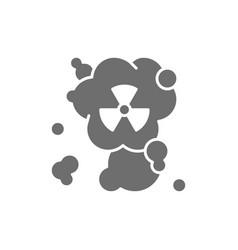 Radiation smell hazardous waste air pollution vector