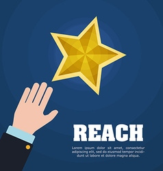 Reach digital design vector image
