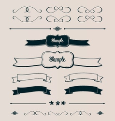 Ribbons Frames and Design Elements vector image