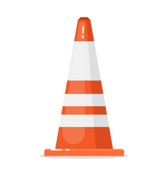 Road traffic cone isolated on white background vector