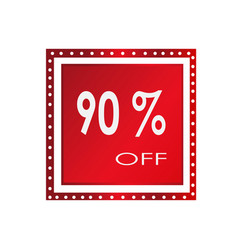 sale 90 off banner design over a white background vector image