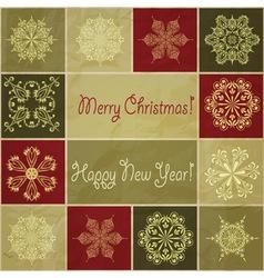 seamless christmas winter pattern vector image