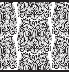 seamless floral pattern with bugs vector image