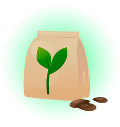 Seeds pack vector