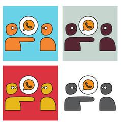 Set of button icon logo design vector
