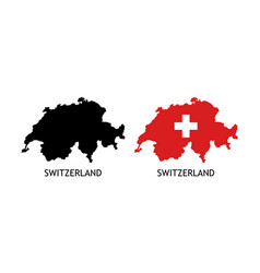 Silhouette switzerland on white color vector