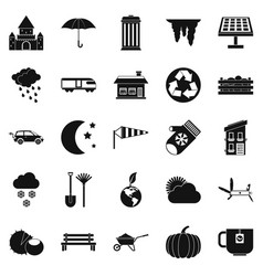 Small house icons set simple style vector