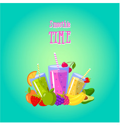 Smoothies time with different vector