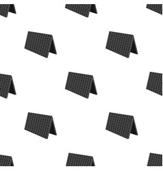 Solar panel icon in black style isolated on white vector