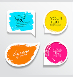 tag label brush stroke colorful shapes set vector image