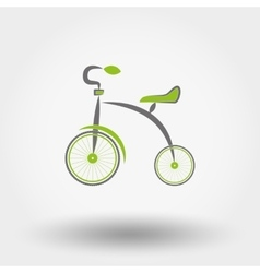 Tricycle flat icon vector