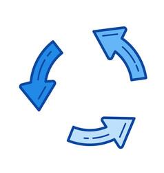 Update line icon vector