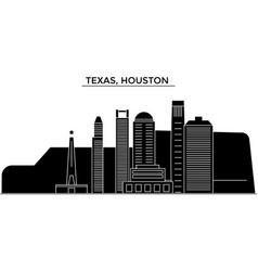 Usa texas houston architecture city vector