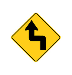Usa traffic road signsthe road ahead curve vector