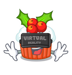 virtual reality decorated christmas cupcakes vector image