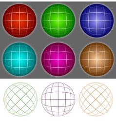 Voluminous balls vector image