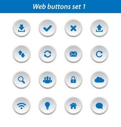 Web buttons set 1 vector image