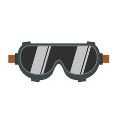 Welding worker glasses icon flat style vector