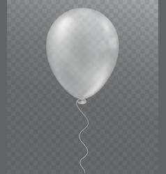 White balloon on transparent background vector