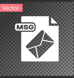White msg file document download msg button icon vector