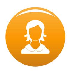 Woman user icon orange vector
