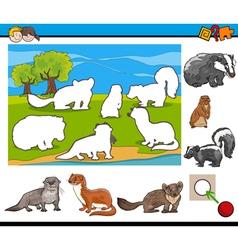 cartoon task for kids vector image vector image