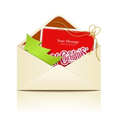 Envelope letter merry christmas vector image vector image