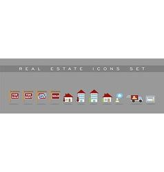 Real estate icons set design vector