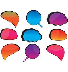 Cool speech bubbles vector image